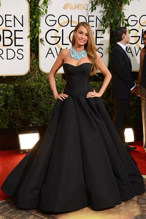 Sofia vergara- Golden Globes Awards - Zac Posen (1)
