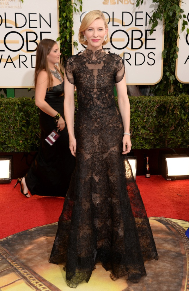 cate blanchett armani prive Golden Globes Awards