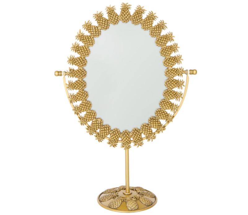 Capa Espelho decorado com abacaxis metalicos - Zara 39,99€