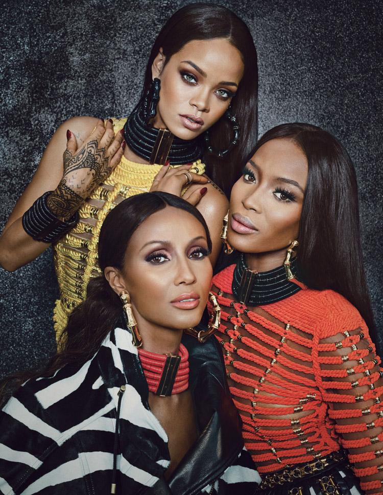 Rihanna-Iman-Naomi-Campbell-Balmain-W-magazine-September-2014-trendthisway (3)