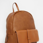 Pieces Tan Backpack with Pocket and Strap Detail €48