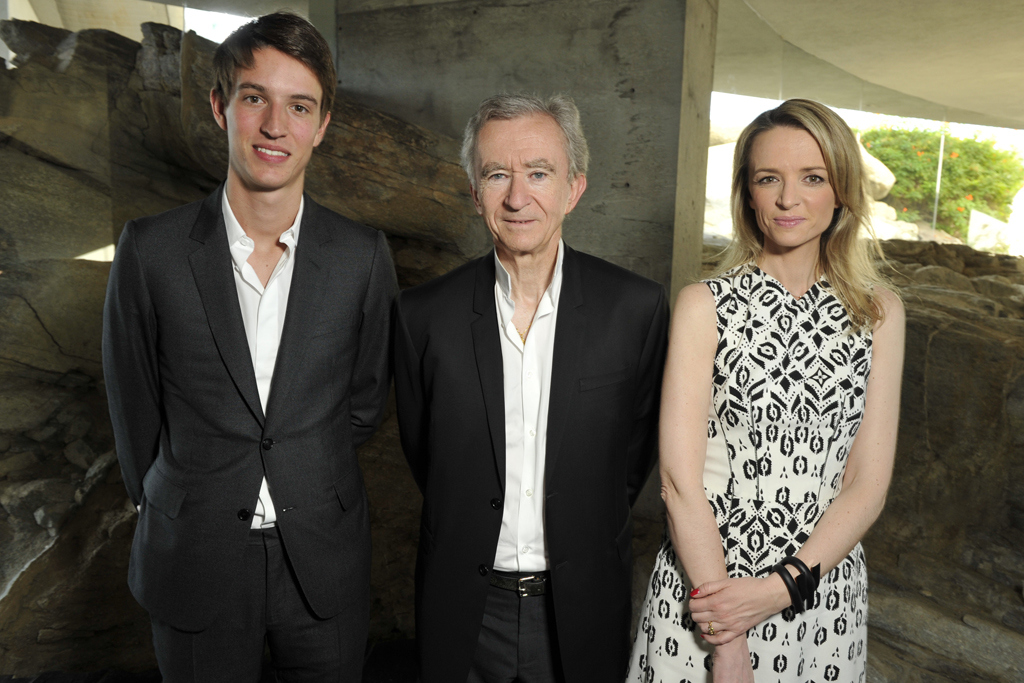 Alexandre, Bernard and Delphine Arnault
