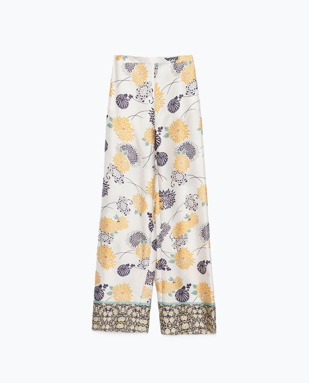 Calças estampadas Zara, €29,95