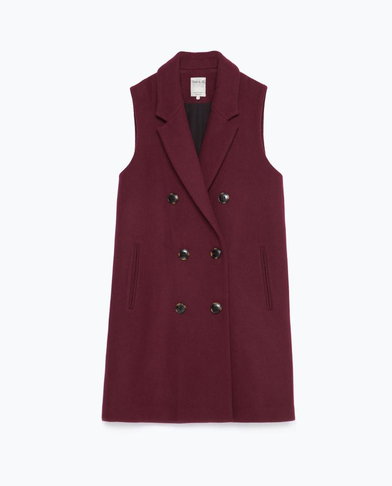 Sobretudo sem mangas Zara, €59,95