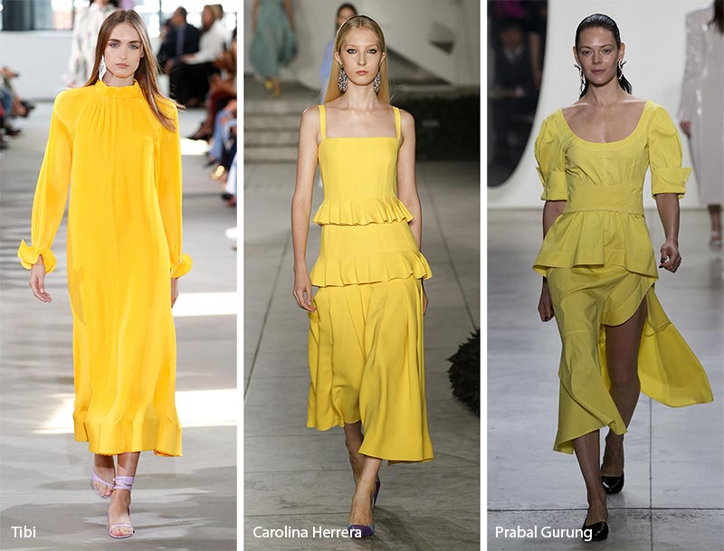 spring_summer_2018_fashion_trends_from_New_York_Fashion_Week_yellow_clothing