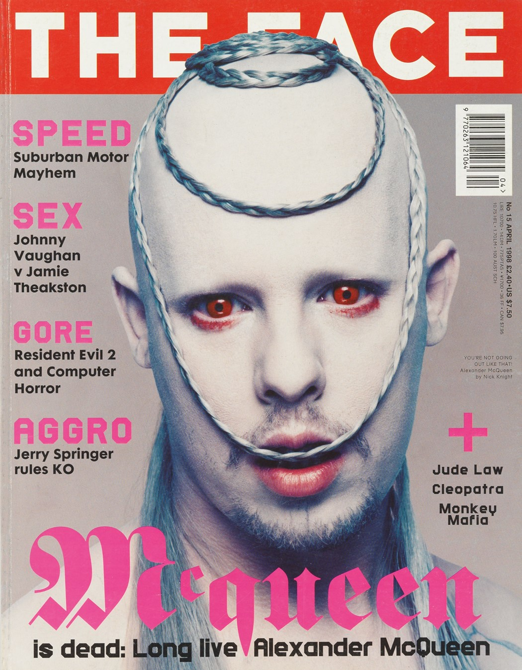 Nick Knight, portrait of Alexander McQueen, The Face 1998.
